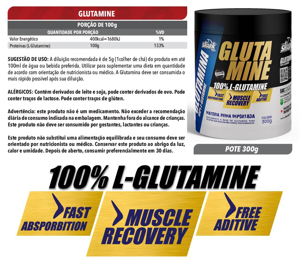 Glutamine 300g - Natural